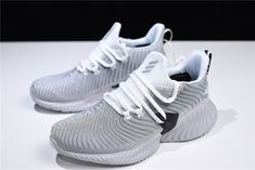"681fe8097450d 2018 adidas AlphaBounce Instinct ""Cloud White"" White Grey-Core Black CG5590  White"