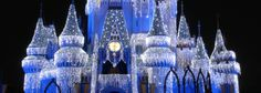 200,000 LED Dream lights adorn the castle at WDW which made their debuted in 2007 - http://disneybythenumbers.com/xmas/xmas.html #Disney #DBTN