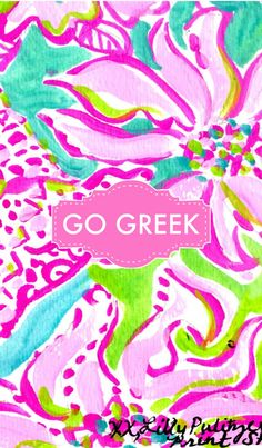 Go Greek monogram iPhone background