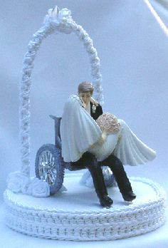 wedding cake toppers wheelchair groom - Google Search