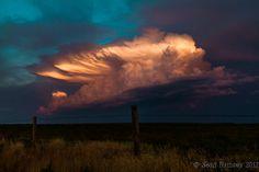 Cloud Photography, Landscape Photography, 8 x 10 Print, Storm Art, Dreamy Photos, Oklahoma Scenery, Evening Settings, Blue, Pink, Sunlight on Etsy, $25.00