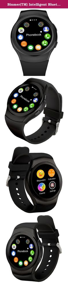 Binmer(TM) Intelligent Bluetooth Watch Heart Rate Measurement Sports Watch (Black). Feature: 100% brand new and high quality. Quantity: 1PC CPU:MTK2502C RAM:128Mbit+64Mbit;support max 16GB TF The whole machine reference size: :51x43x13cm Machine weight:50g The home screen: 1.3 high IPS, 240 * 240 all round screen Touch screen: capacitive touch screen Bluetooth push: SMS WeChat QQ news timely remind client information communication Heart rate detection: heart rate monitoring, all-weather...