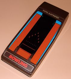 Vintage Bowling Handheld Electronic Game By Mattel Electronics, Made In Hong Kong, Copyright 1980.
