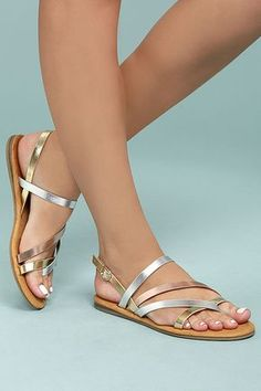 Kalene Metallic Multi Flat Sandals 2