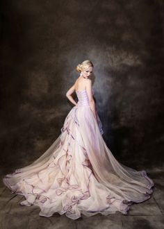 The official colour is called Purple/mocha it has shades of mauve/pinks & light purple Beautiful Costumes, Beautiful Gowns, Formal Dresses For Weddings, Wedding Gowns, A Line Gown, Yes To The Dress, Purple Wedding, Dream Dress, Pretty Dresses