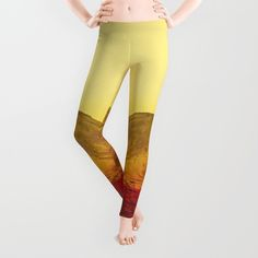 Warm abstraction by Stoian Hitrov - Sto #leggings #society6 #fashion #dope #mountain #outside #red #sands #summer