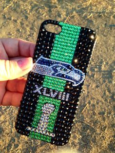 Seattle Seahawks Bling Phone Case Super Bowl Champs iPhone 4 4S 5 5C Galaxy S3 S4 S5 on Etsy, $45.00