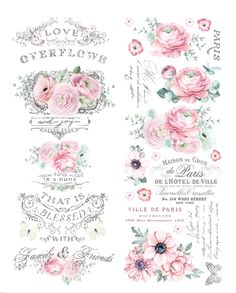 Excited to share this item from my shop: ReDesign by Prima overflowing Love Decor Rub On Transfer x Rue Montmartre, Rub On Transfers, Decoupage Printables, Foto Transfer, Shabby Chic Crafts, Decoupage Vintage, Paris Ville, Ruby Rose, Vintage Labels