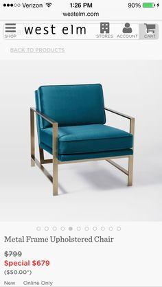 Metal Framed Upholstered Chair