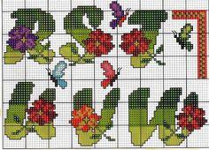 alfabeto fiori farfalle13