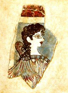 Statues & Busts :: Ancient Greek Wall Frescoes :: Minoan wall frescoes from the island of Crete :: La Parisienne -