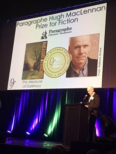 Here is Liam Durcan accepting the Paragraphe Hugh MacLennan Prize for Fiction for his novel The Measure of Darkness at the Quebec Writers' Federation Literary Awards. Congratulations!