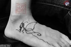 foot fairy tattoo