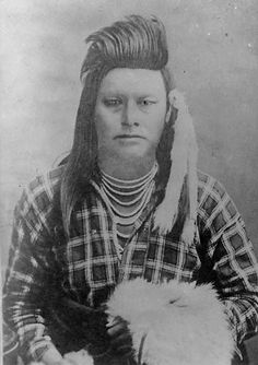 Ollokot (aka Little Frog) the younger brother of Chief Joseph - Nez Perce - 1877