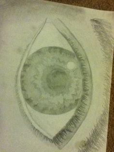 An eye I drew in art class