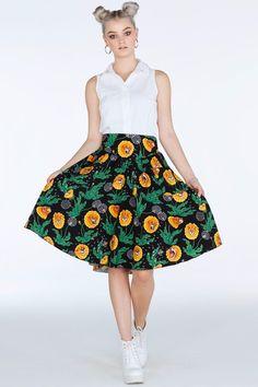 Black Milk Clothing - Dandy Lions Yoke Midi Skirt - Limited. Size M