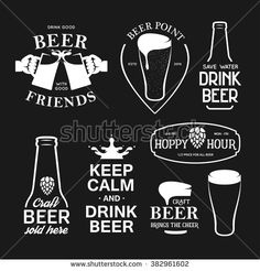 Beer related typogra