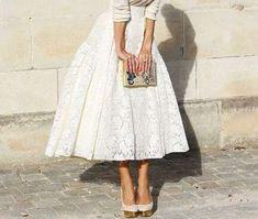 Cómo combinar las faldas midi: Fotos de los modelos (39/41)   Ellahoy