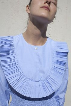 Trademark Smocked Rib Dress in Oxford Blue