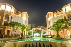 Night View at Beach Resorts, Caribbean, Mansions, Night, House Styles, Home, House, Villas, Resorts