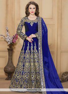 Unique  Embroidered Work Long Length Anarkali Salwar Suit