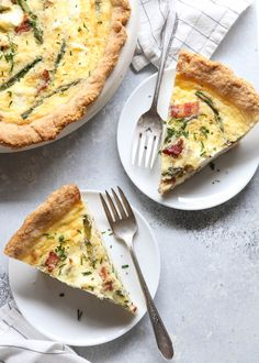 bacon, asparagus and cream cheese quiche | completely delicious