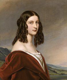 Joseph Karl Stieler - portrait de Friederike Freifrau von Gumppenberg…