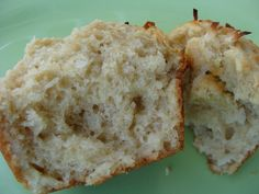 Whole Wheat Banana Coconut Muffins>>Ingredients:  1 1/2 cups whole wheat flour  1/2 cup sugar  2 tsp baking powder  1/3 cup coconut oil  1 egg  2 ripe bananas, mashed  1/4 cup coconut milk  1 tsp vanilla extract  1/4 cup coconut, shredded>>More>>http://www.ccrecipe.com/1071/muffins/whole-wheat-banana-coconut-muffins.html