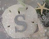 Glitter Sand Dollar Ornament with Monogram Beach Christmas Trees, Coastal Christmas Decor, Nautical Christmas, White Christmas, Xmas, Coastal Decor, Holiday Decor, Beach Ornaments, Diy Christmas Ornaments