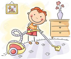 Buy Boy helping his parents with the housework by katya_dav on GraphicRiver. Little boy helping his parents with the housework Drawing Lessons For Kids, Art Drawings For Kids, Easy Drawings, Art For Kids, Stick Figure Drawing, School Cartoon, Mothers Day Crafts For Kids, Stick Art, Kids Study