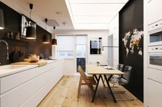 Chic Apartment Emphasising Bursts of Lights and Darks by Natalia Akimov