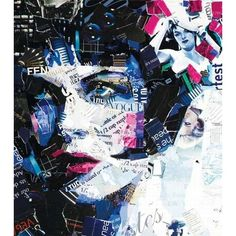 Derek Gores creates amazing collage art from recycled magazines ❤ liked on Polyvore