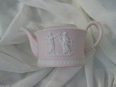 REDUCED PRICE CHINA SALE COLLECTIBLE Wedgwood Pink Jasper Teapot without Lid #Wedgwood