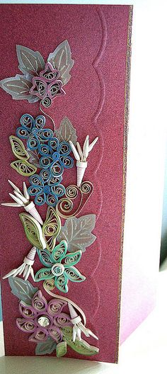 Pink quilling by yorkshirelass49, via Flickr