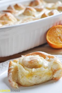 Orange Sweet Rolls by Lemon Sugar - I like orange rolls even better than good old fashioned cinnamon rolls!