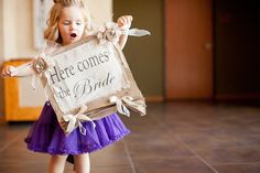 """""""Here Comes The Bride"""" sign (front)"""