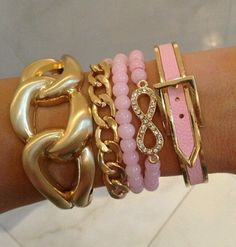Baby Pink Arm Candy Bracelet Set | eBay