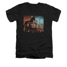 Batman Arkham City - City Knockout Adult V-Neck T-Shirt