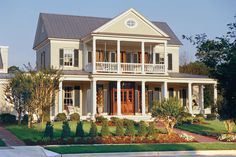 The Newberry Park plan adds southern charm with relaxed porches and columns