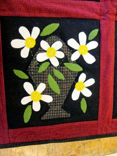 Flower baskets by Wooden Spool Designs