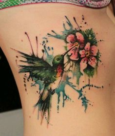 water color tattoo, minus the splatters