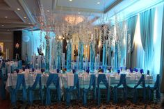 The Blue Bar Mitzvah - elegant boys party