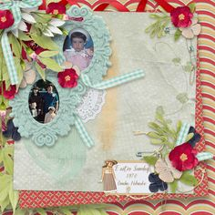 Cute as a Bug Collection by PattyB Scraps - This charming digital scrapbooking collection has a happy color palette.  And is an excellent choice for scrapping delightful layout pages about family, and friends as well.