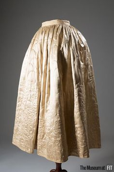 Quilted silk satin petticoat, c.1765. #lingeriehistory Collection of The Museum at FIT.