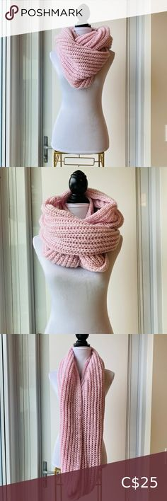 Chunky Pink Oversized Infinity Scarf Great condition Small end of yarn piece shows on one side (see last photo) No major damage or stains Gorgeous chunky scarf UK2LA Accessories Scarves & Wraps Wrap Coat, Scarf Wrap, Chunky Scarves, Stella Mccartney Adidas, Cashmere Wool, Infinity, Women Accessories, Wraps, Stains