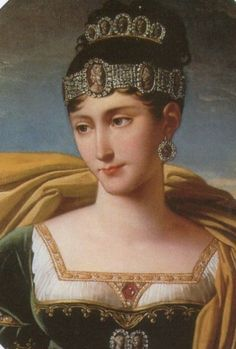 Pauline Bonaparte (Napoleons Sister) was told by Napoleon to marry Prince Camillo Borghese after her first husband died, thus making her Duchess of Guastalla. She was very close to Napoleon. When the French Empire fell she went to live in Italy Empress Josephine, Napoleon Josephine, Royal Jewels, Crown Jewels, Royal Crowns, French History, Art History, History Major, Marie Bonaparte