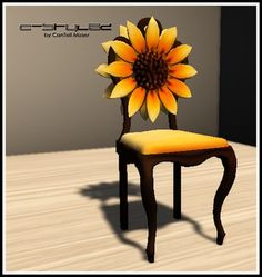 Sunflower Chair with Sit Animation!