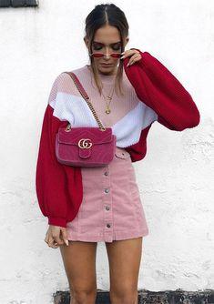 Vermelho e rosa, juntos!