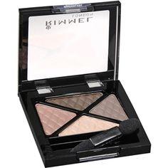 Rimmel Glam' Eyes Quad Eye Shadow, English Breakfast. Perfect Cool Neutral Eyeshadow palette for my brown eyes! :)