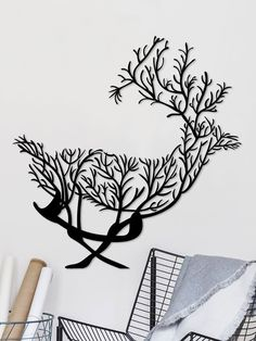 Excited to share this item from my shop: Ditcowest Metal Wall Art Deer Forest, Geometric Metal Wall Art/ Home Décor Wall/Modern Metal Art/ Wall Signs/ Bedroom, Living Room Decor Stencil Art, Stencil Designs, Metal Wall Art Decor, Metal Art, How To Make Metal, Stylo 3d, Sheet Metal Fabrication, Horror Artwork, Wooden Art